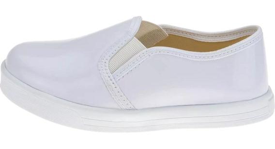 Tênis Feminino Slip On Infantil Menina Sapato Calce Fácil
