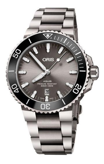 Reloj Oris Aquis Titanium Date Original 73377307153