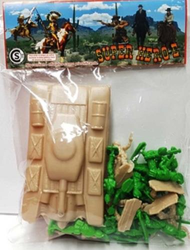 Soldaditos Soldados X22 Con 1 Tanque Super Hero Juguete $em