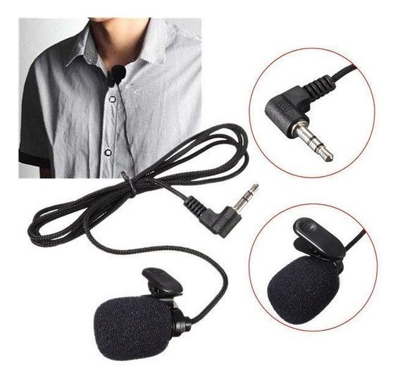 01 Microfone Lapela Original Fio 1,45 M Disp Import Qualidad