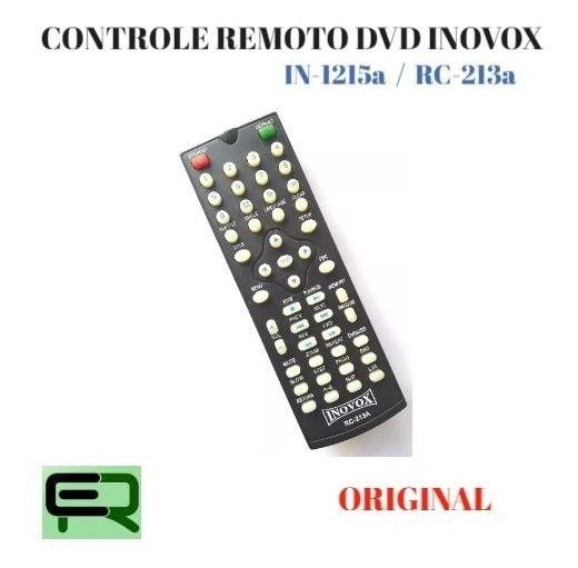 Controle Remoto Dvd Inovox In-1215a / Rc-213a Original