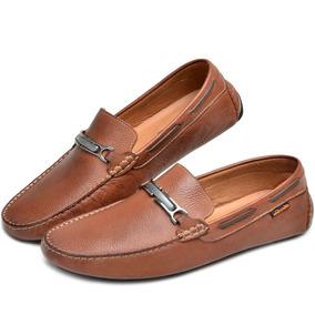 3a33bee0a3 Sapato Casual Cor Whisky Linha Masculino Mocassins - Sapatos no ...