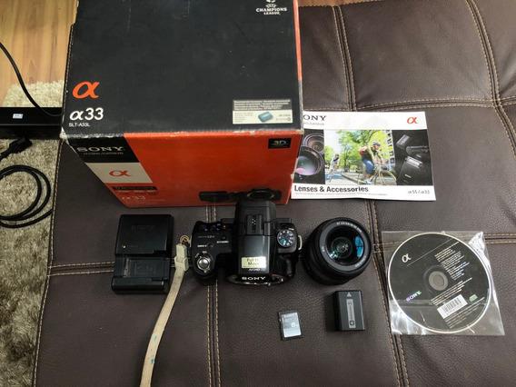 Câmera Fotográfica Reflex Sony Alpha A33