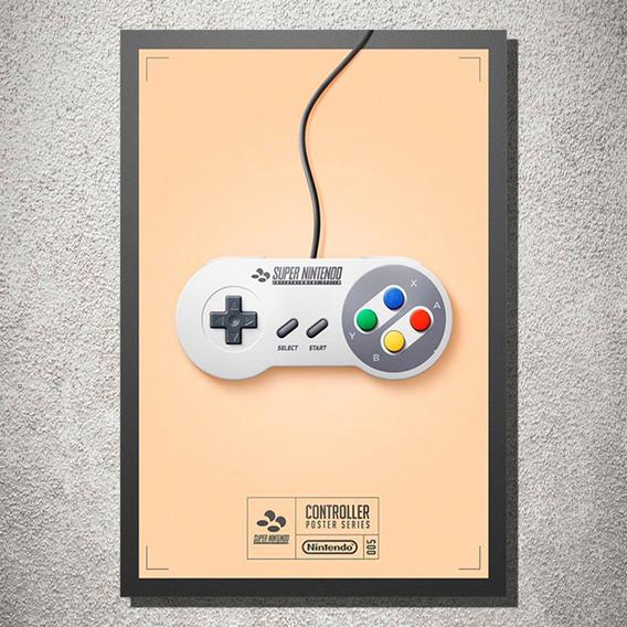 Placa Decorativa Controle Super Nintendo Decoração Mdf