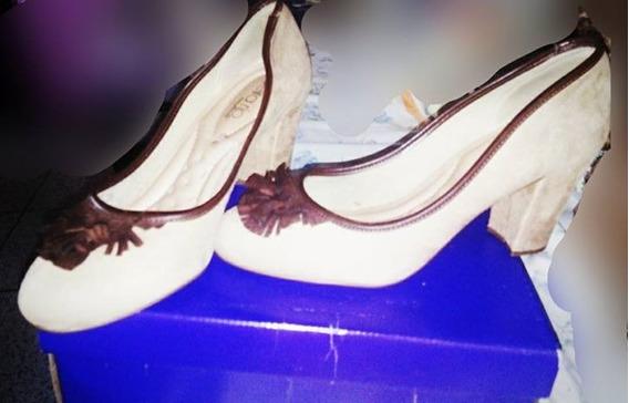 Sapato Alto Feminino Bege/marrom