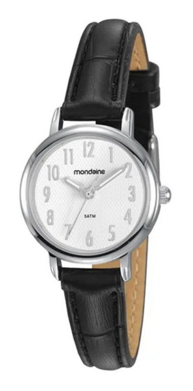 Relógio Feminino Mondaine Prata Pequeno Pulseira Couro