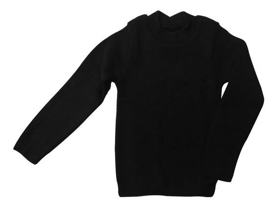 Blusa De Lã Infantil Básica Tamanhos 2 4 6 E 8