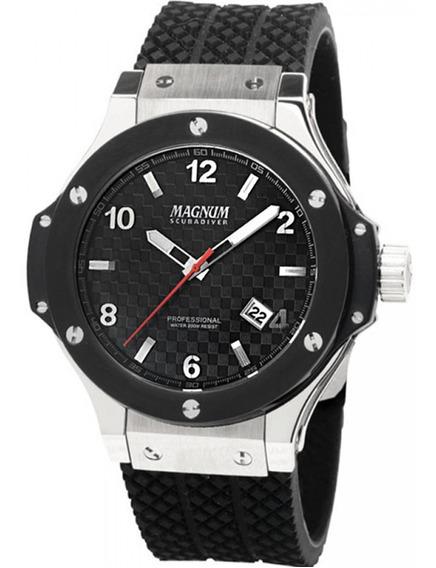 Relógio Magnum Scuba Ma30963 Masculino Pulseira Borracha
