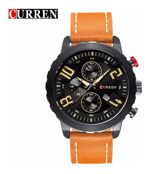 Relógio Masculino Fashion E Casual Quartzo Curren Original