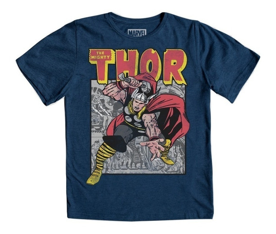 Playera Thor Retro Niño Máscara De Látex Marvel Avengers