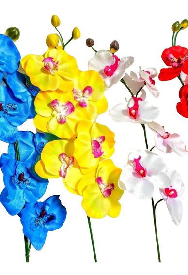 Kit 15 Orquideas Artificiais Flores Atacado Artificial Vaso