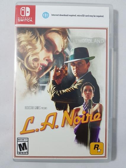 L.a. Noire Nintendo Switch Mídia Física Pronta Entrega