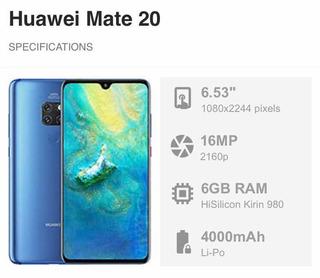 Smartphone Huawei Mate 20