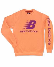 Sueter New Balance Naranja Azul