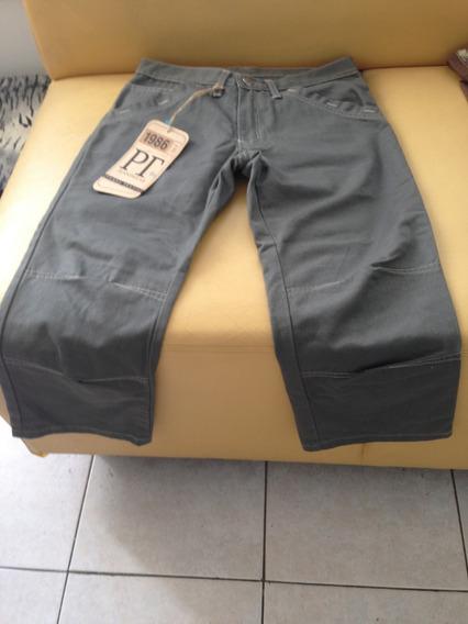Pantalon Pescador Español Verde Oliva 100% Algodon