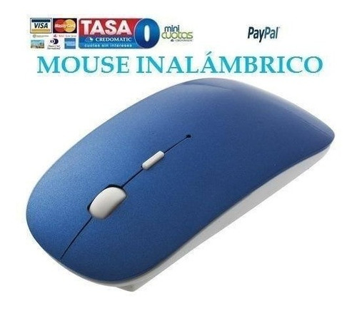Mini Mouse Usb Slim Azul Wireless 2.4g Optical Laptop Pc Mac