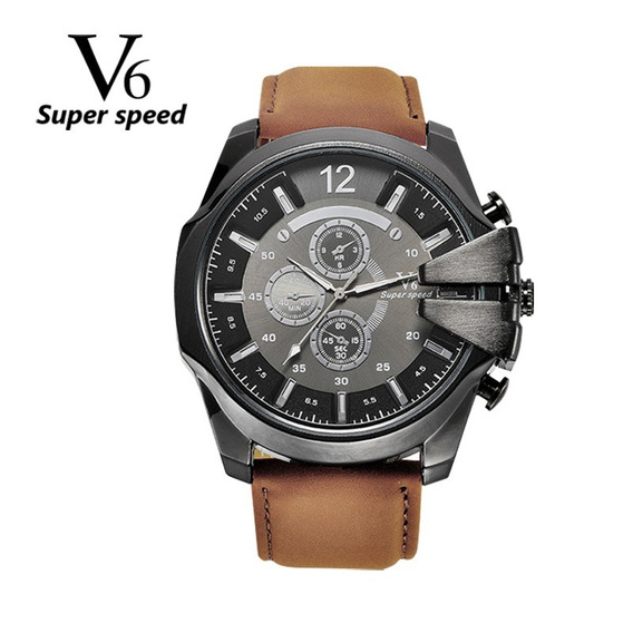 Relógio Masculino V6 Super Speed Estilo Militar (60% Off)