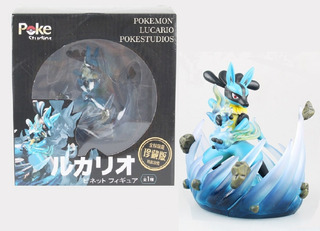 Lucario Pokémon - Boneco Action Figure Pokemon Pokestudios