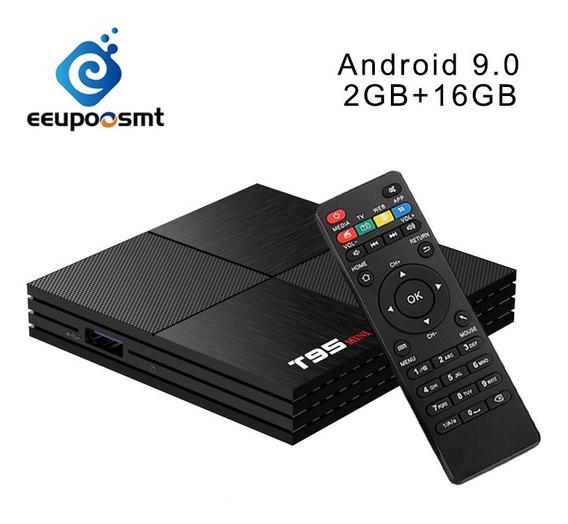 T95mini H6 Quadcore Smart Iptv Tv Caixa Android 9.0 2g+16g S
