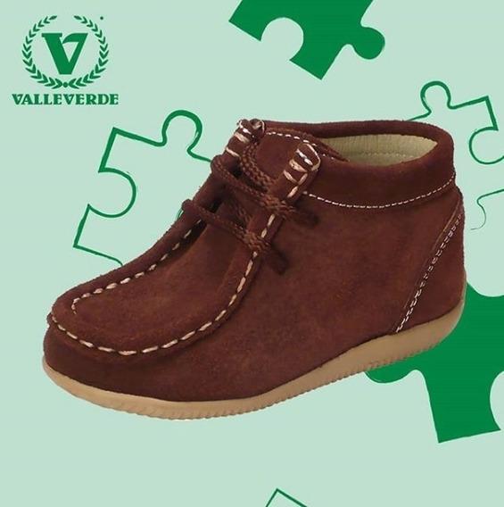 Zapatos Valle Verde Kids Talla 23 Nobuck Oro Varon