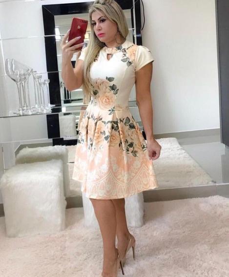 Ok Vestido Com Pregas Moda Evangélica Brinde