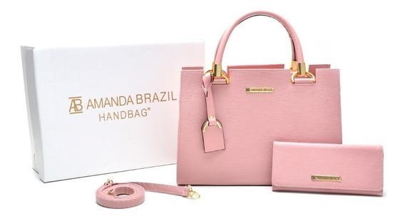 Bolsa Amanda Brazil + Carteira Imperdível Kit Bolsa+carteira
