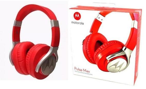 Fone Motorola Pulse Max Com Microfone Sh004 - Vermelho