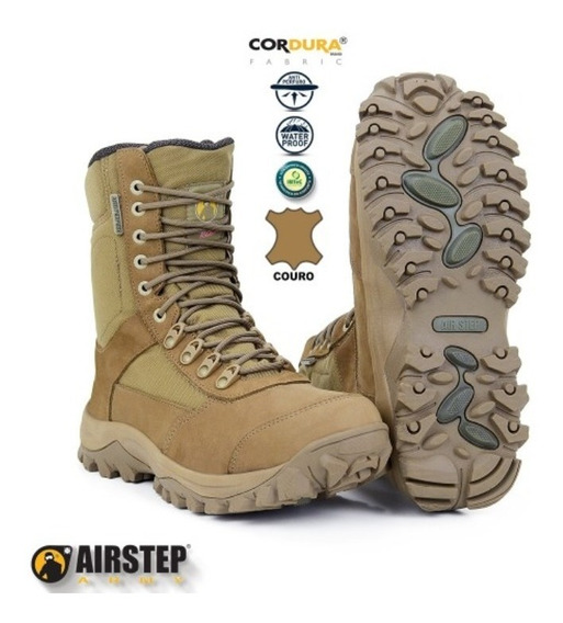 Coturno Bota Militar Airstep Coyote 8625-35 100% Impermeável