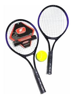 Set 2 Raquetas De Tenis Con Pelota Y Funda Para Niños