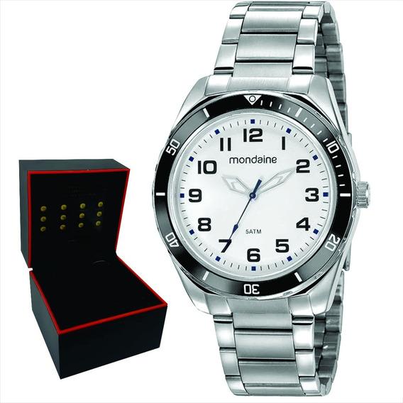 Relógio Mondaine Masculino Original Garantia Nf 53768g0mvne4