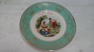 Prato Porcelana Para Coleção, Decoração Ou Parede - 444