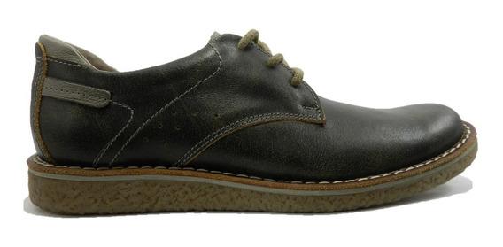 Zapatos Zurich De Cuero Cosidos Suela Simil Crepe Cod.5575