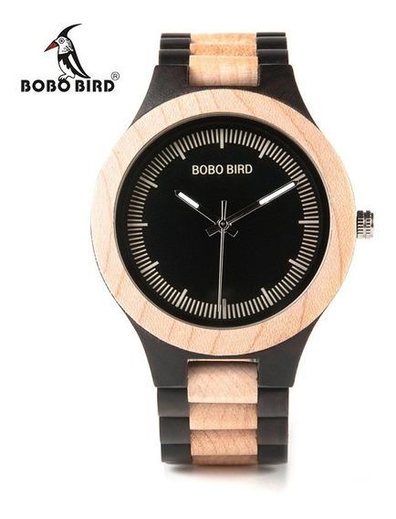 Relógio Madeira 100% Natural Bobo Bird Presente Original