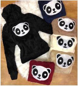 Blusa De Frio Peludinho Panda E Paris