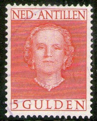 Antillas Holandesas Sello Reina Juliana X 5 G. Años 1950-54