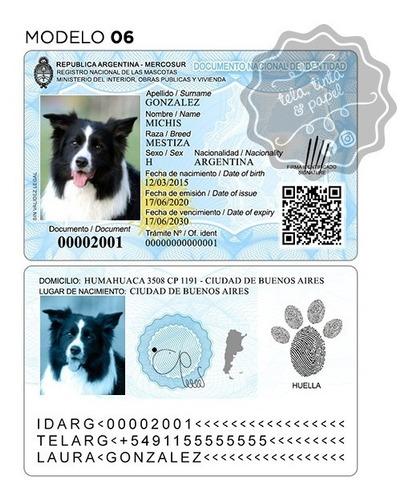 Plantilla Dni Mascotas Editable - Para Perros, Gatos, Etc