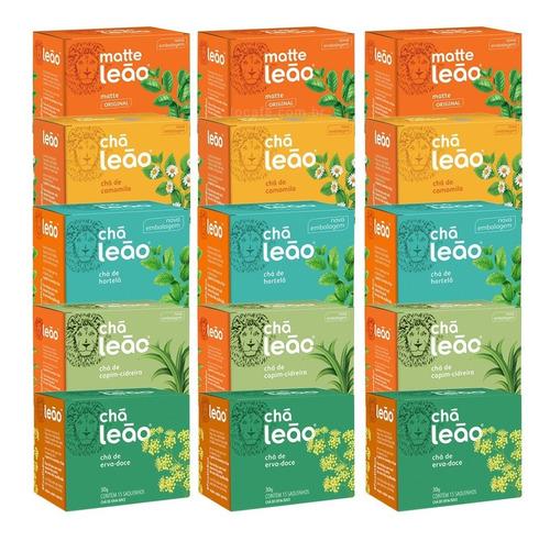 Chá Leão Ervas - Combo 225 Sachês Embalados Individualmente