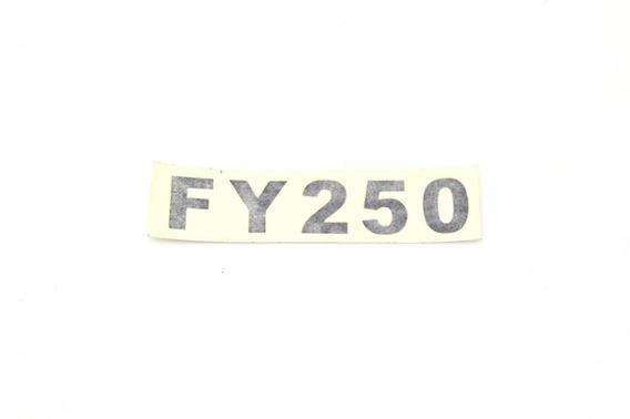 Emblema Na Cor Preta Fym 250 (adesivo) Par