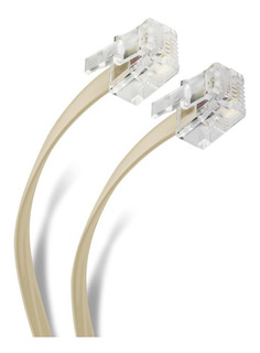 Cable Telefónico Plug A Plug, Para Extensiones De 10 Mts