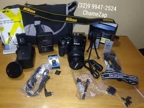 Nikon D3200 Com Acessórios / Entrego Em Maos , 650,00