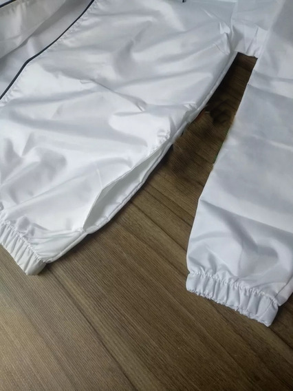 Jaqueta Corta Vento Internacional Futebol Branco Lancamento