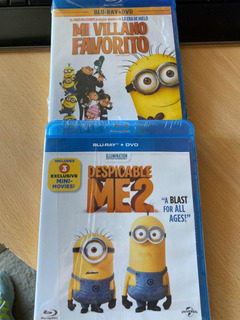 Kit Mi Villano Favorito 1&2 Bluray +dvd Despicable Me Nuevo