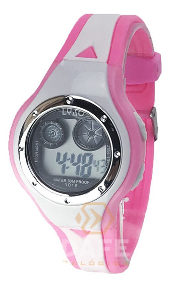 Relógio Infantil Barato Rosa E Branco