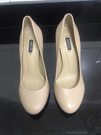 Sapato Arezzo Nude Usado Número 35