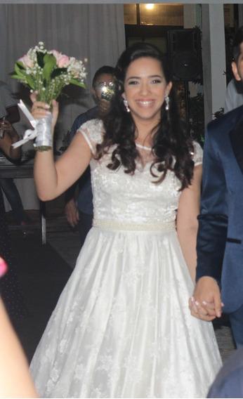 Vestido De Noiva Todo Em Renda Francesa