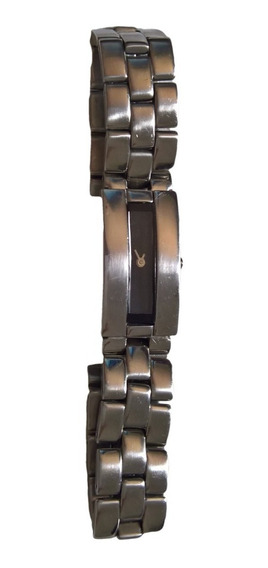 Relogio Skagen Pulseira Metal Cromada Retangular Importado