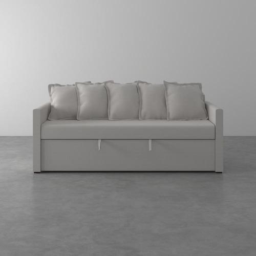 Imagem 1 de 7 de Sofa-cama De 2 Lugares Emily Tramado Cru 200cm