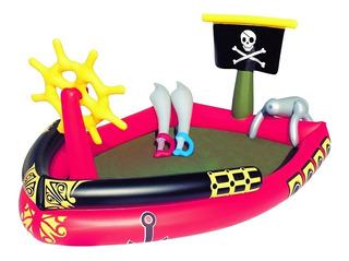 Pileta Pelotero Inflable Barco Pirata Espadas Bestway Envios