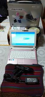 Netbook Acer Aspire One D250-1655+rosa+2g Ram+160 Dd+garant