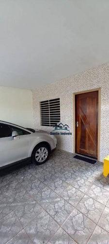 Sobrado Com 4 Quartos, 02 Salas,02 Cozinhas, 02 Vagas Cobertas  À Venda, 125 M²  - Vila Bela Vista - Santo André/sp - So0416